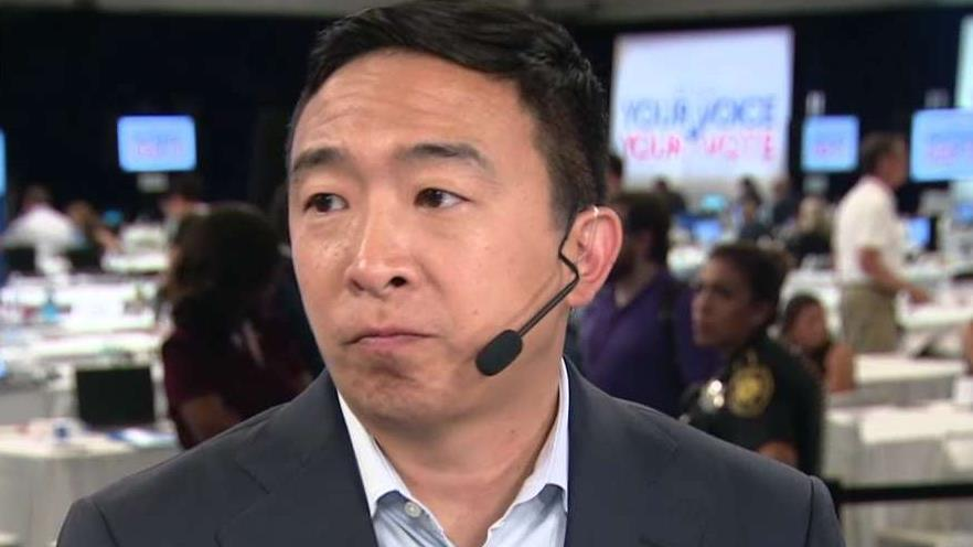 Andrew Yang on whether promising 10 random families $12,000 each violates campaign finance laws
