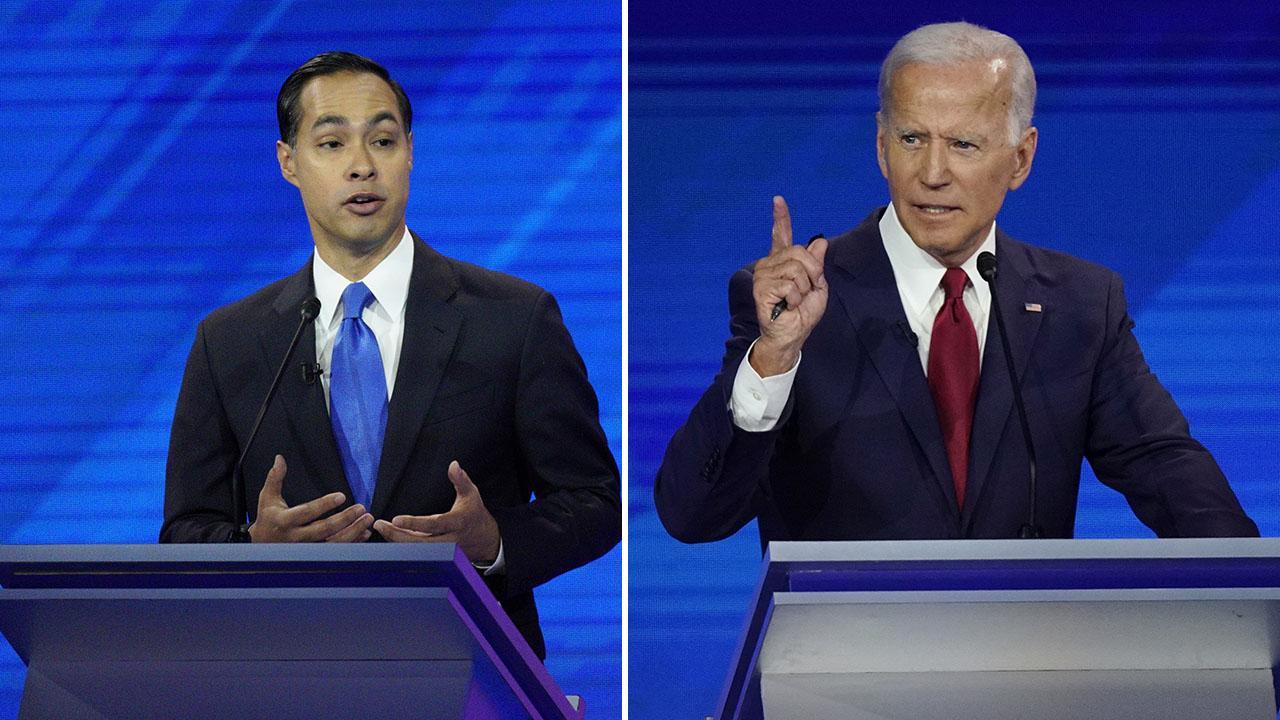 Joe Biden fields fiery attack from Julian Castro during Houston, Texas debate