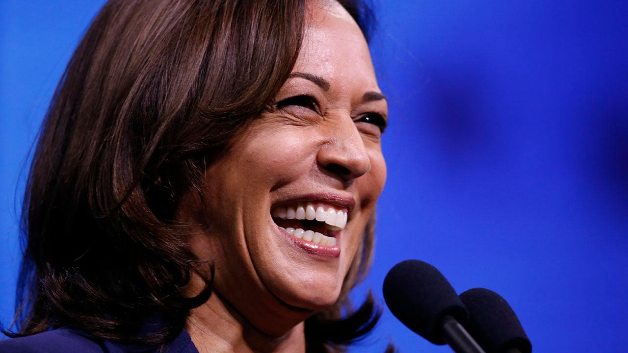 Kamala Harris laughs when Biden tells her she can't ban guns with an executive order