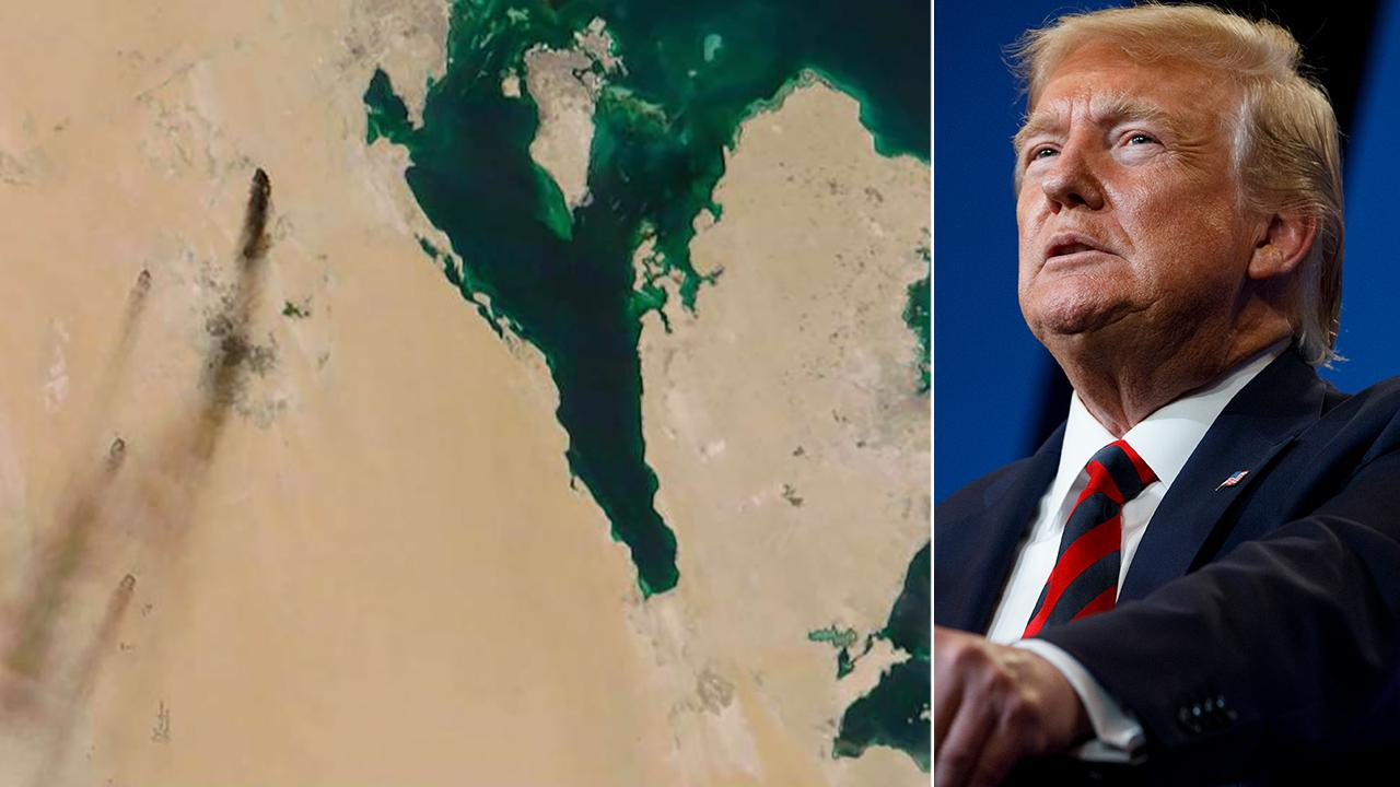 Trumps warns US is 'locked and loaded' after attack on Saudi oil supply