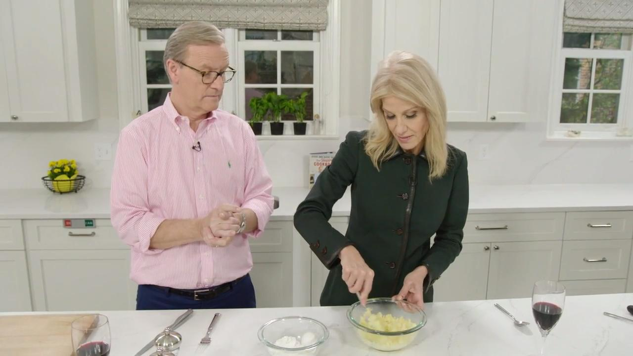 Kellyanne Conway cooks Italian cuisine with Steve Doocy