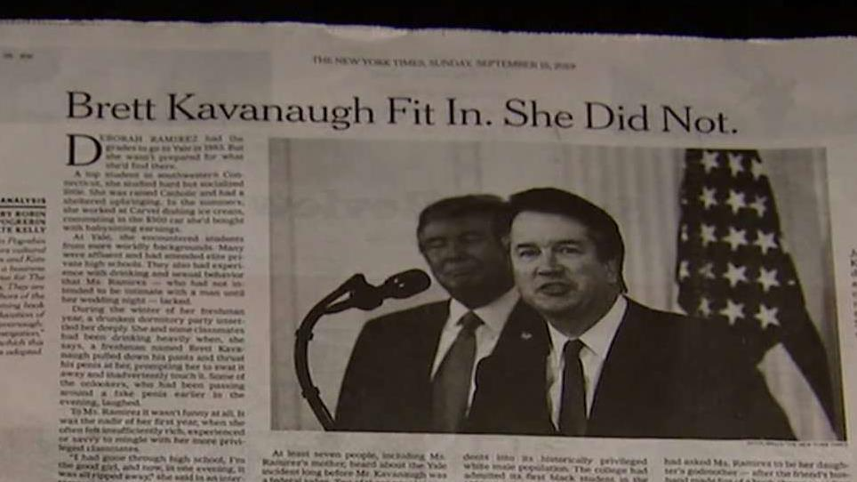 The New York Times facing mounting criticism over its story on Brett Kavanaugh that had to be corrected; Fox News media analyst Howard Kurtz reports.