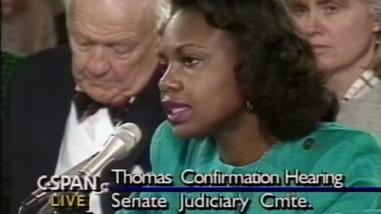 Anita Hill details sexual harassment allegations against Clarence Thomas