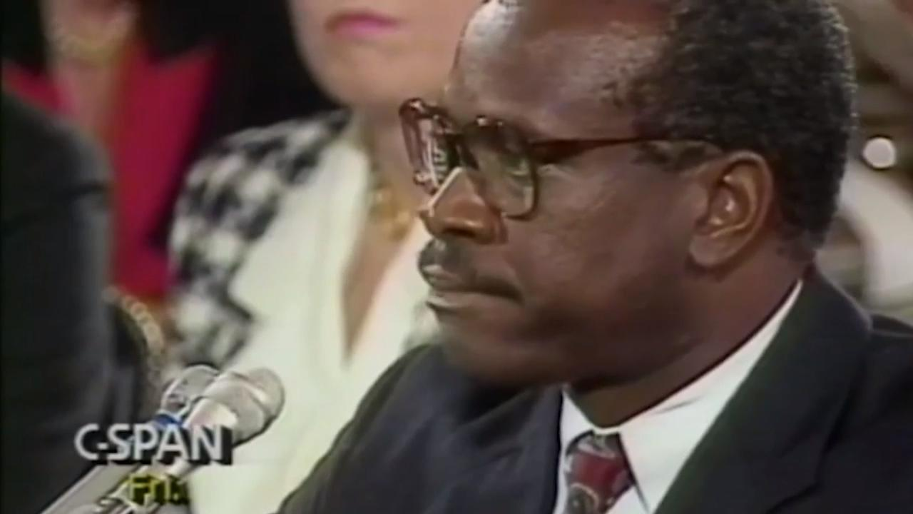 Clarence Thomas defends himself in public testimony