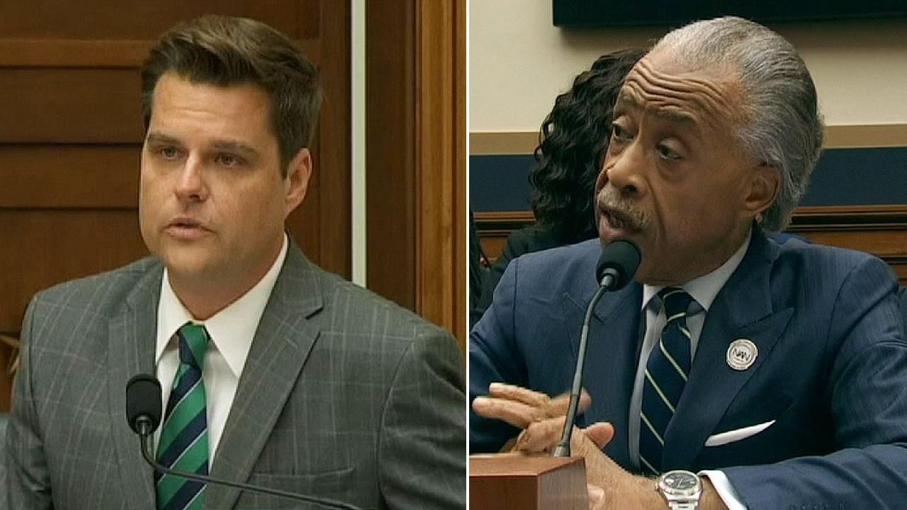 GOP Rep. Matt Gaetz, Al Sharpton clash over anti-Semitism accusations as police brutality hearing goes off rails