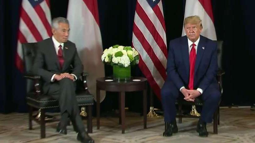 President Trump touts trade success with Singapore, partnership with the country