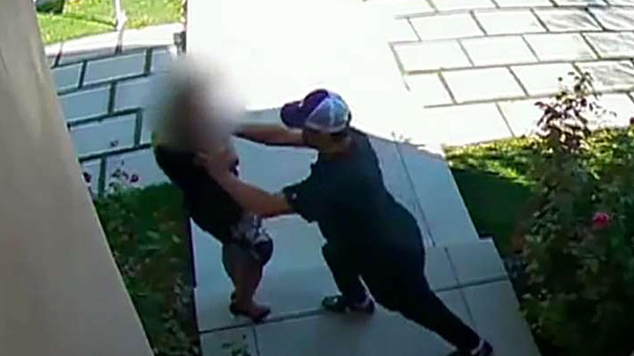 Violent attack on real estate agent caught on camera