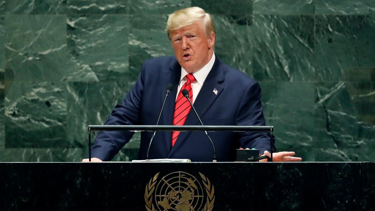 Trump slams open-border activists for 'evil' agenda, decries Iran 'bloodlust' in fiery UN speech