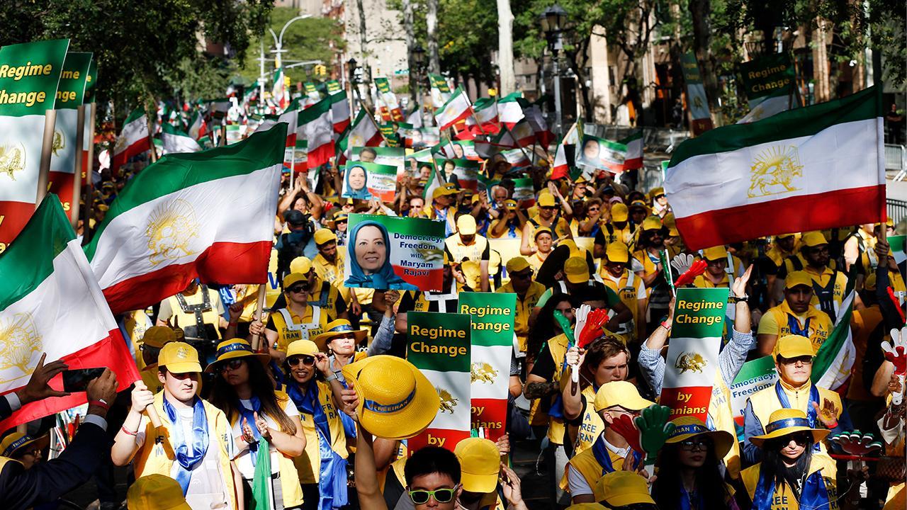 Iran protesters at U.N. praise Trump, demand regime change