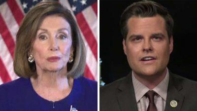 Matt Gaetz reacts to Pelosi's impeachment inquiry