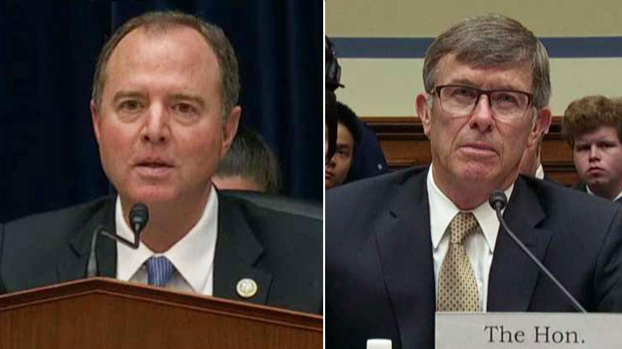 Rep. Adam Schiff presses acting DNI Joseph Maguire over whether whistleblower's claims should be investigated
