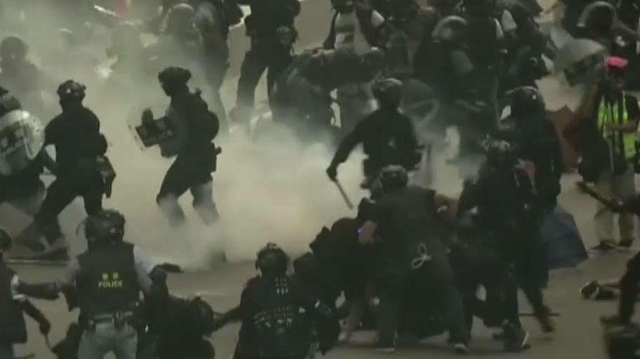 Hong Kong police warn violence could break out during Chinese anniversary