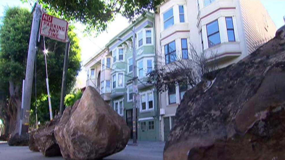 San Francisco officials remove boulders installed by residents to deter homeless