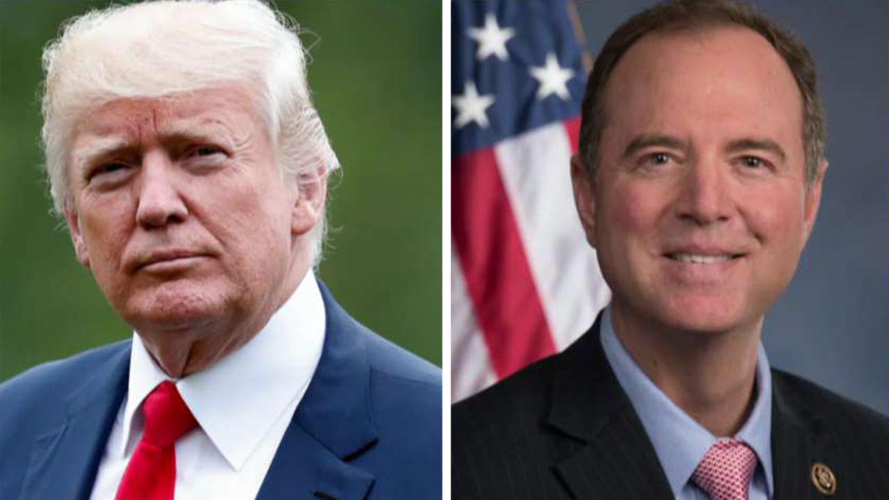 President Trump blasts Rep. Adam Schiff, the Democrats' impeachment inquiry and the media
