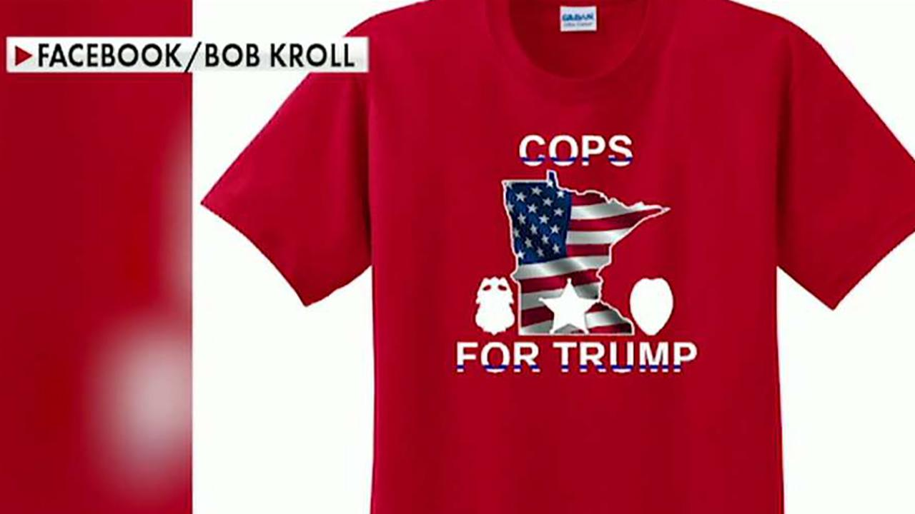 Minneapolis Police Union selling 'Cops for Trump' shirts amid uniform ban for Trump rally