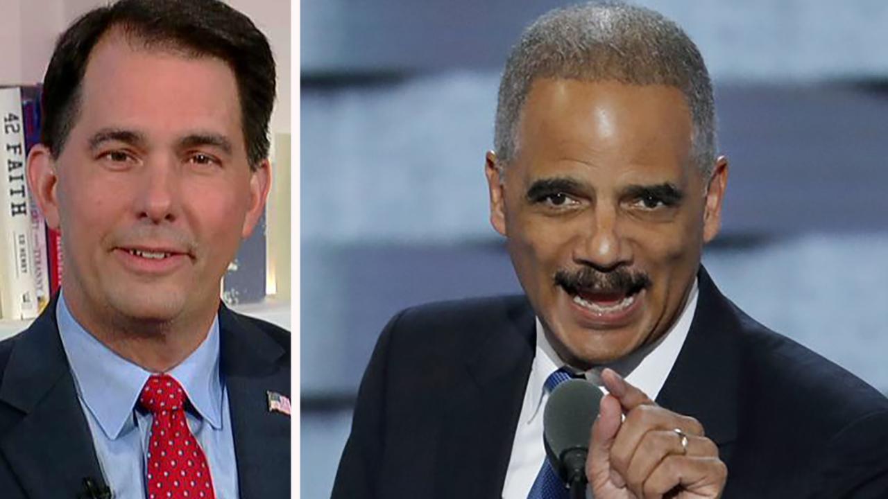 Scott Walker fighting Eric Holder's national redistricting effort
