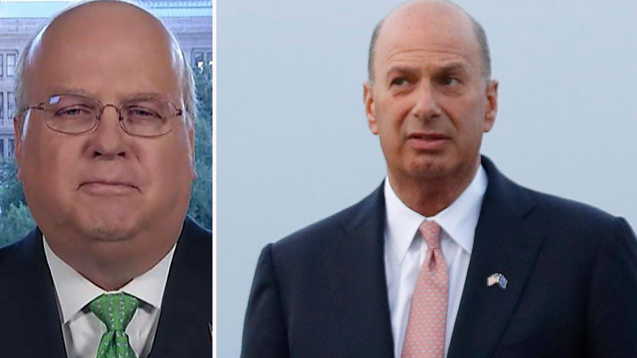 Karl Rove reacts to Trump administration blocking EU ambassador from testifying on Ukraine