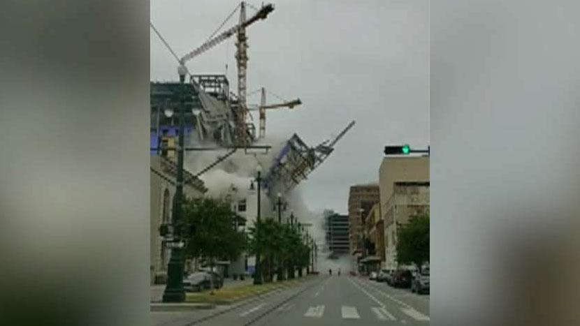 At least one dead after partial collapse at Hard Rock Hotel being built in New Orleans