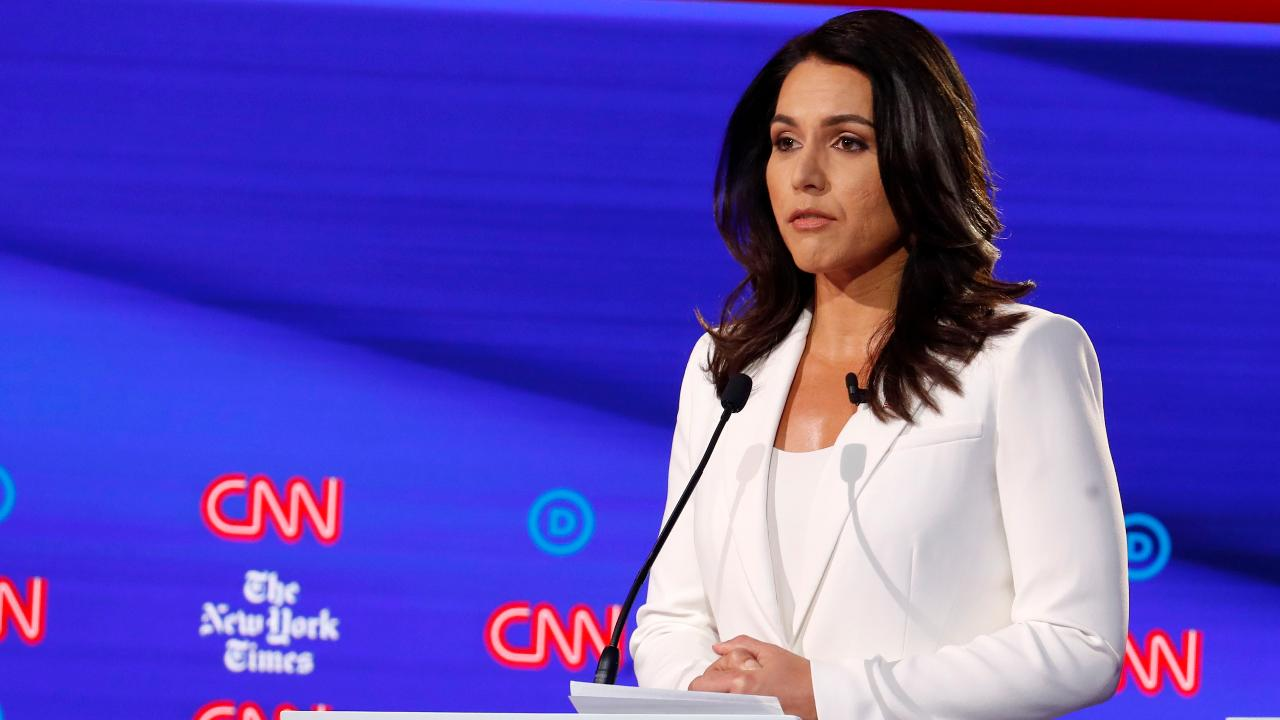 Gabbard, in defiant video, links Clinton 'smears' to her previous Sanders endorsement