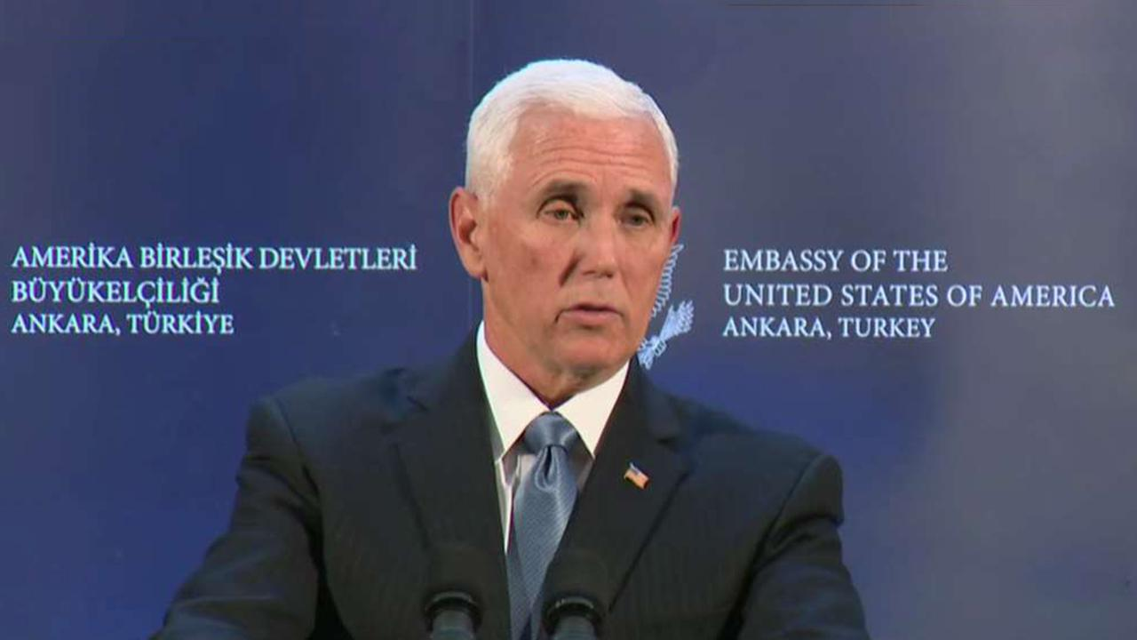 Vice President Pence announces US and Turkey agree to ceasefire in Syria