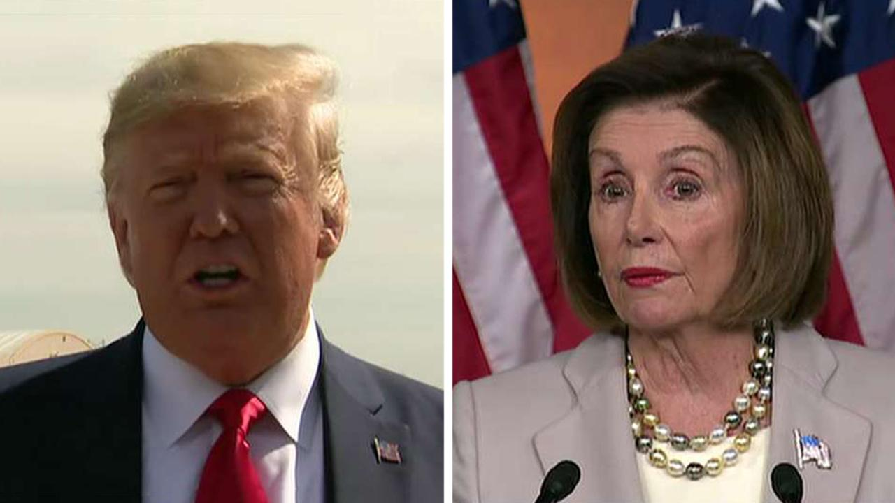 President Trump and Speaker Pelosi trade 'meltdown' insults
