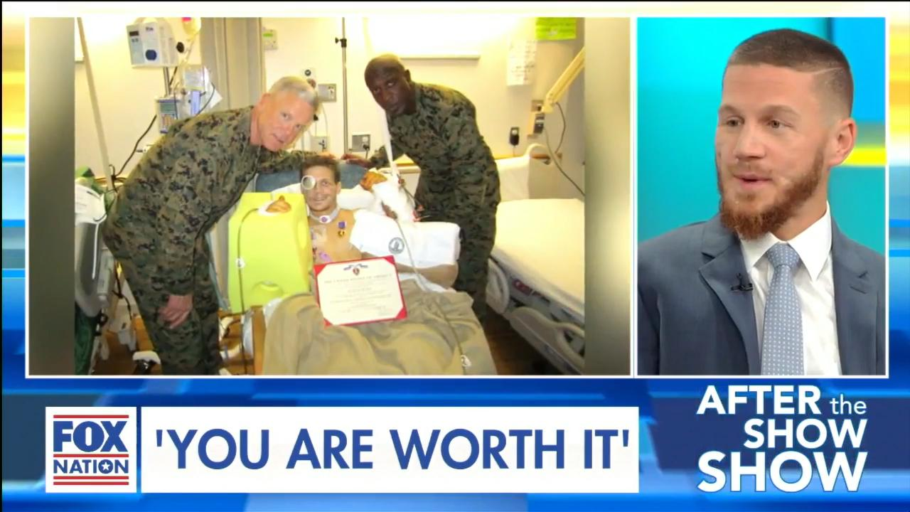 "U.S. Marine who sustained critical injuries after jumping on grenade has message for Americans: ""You are worth it"""
