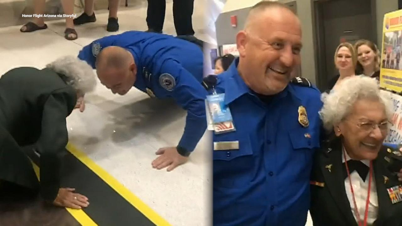 84-year-old US Army vet challenges TSA agent to 10 push-ups before Honor Flight