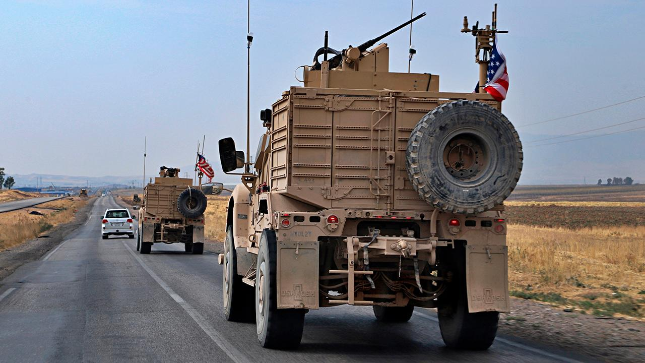 Westlake Legal Group 694940094001_6096573104001_6096578600001-vs All US armored vehicles evacuating northeast Syria have arrived in Iraq, defense official says Lucas Tomlinson Frank Miles fox-news/world/conflicts/syria fox news fnc/world fnc article a1d7e256-4a42-5113-bad5-fe5500da7c3d