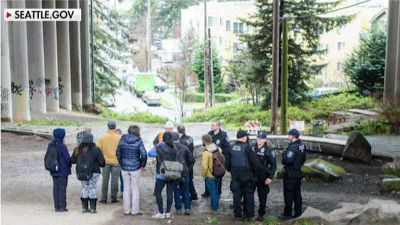 Progressive city council members in Seattle call to defund police homeless rescue team