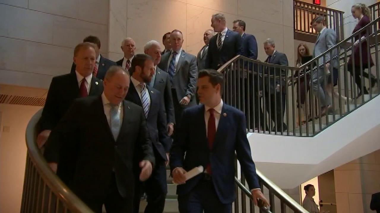 Republican lawmakers protest Democrats' impeachment inquiry