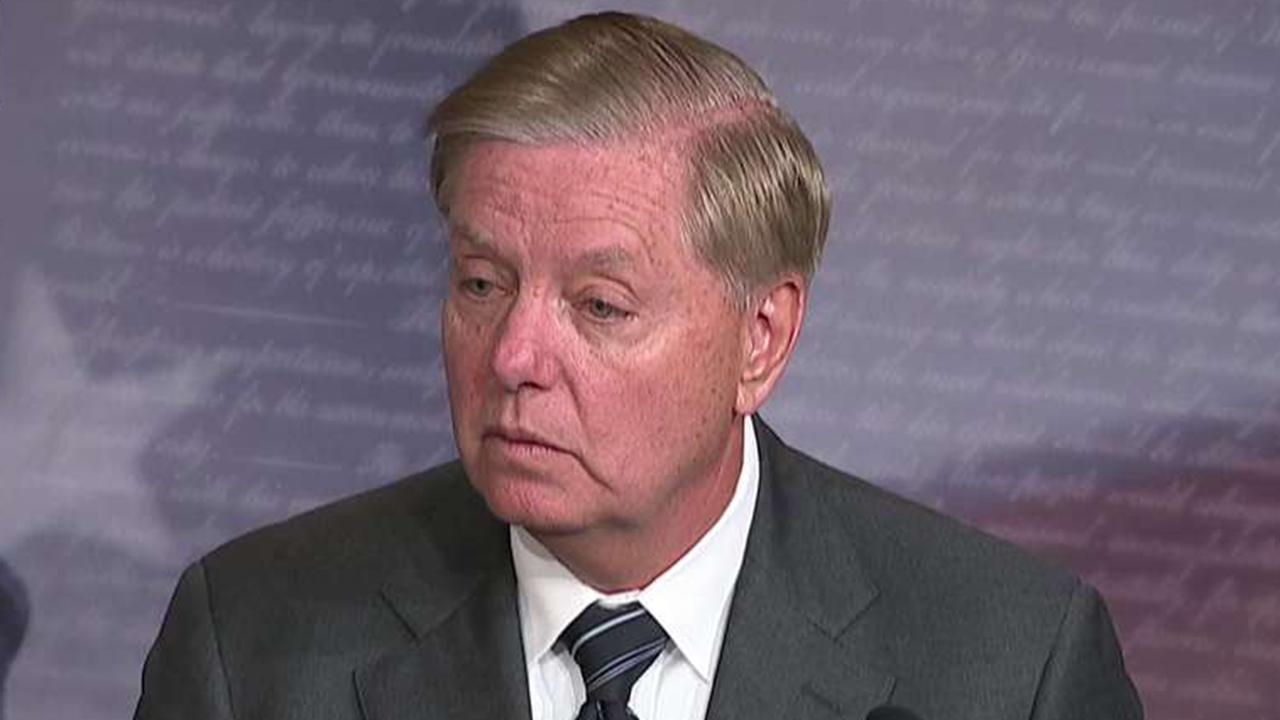 Westlake Legal Group 694940094001_6097446604001_6097446767001-vs Graham lashes out at impeachment inquiry: 'If we were doing this, you'd be beating the sh-- out of us' Gregg Re fox-news/politics/trump-impeachment-inquiry fox-news/politics/senate/republicans fox-news/person/lindsey-graham fox news fnc/politics fnc article 2acb42c5-34cb-5d2e-a781-dede2f8ba828