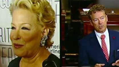 Actress Bette Midler deletes tweet taking issue with comments Sen. Paul made about Kurds in Syria