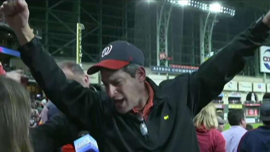 Washington Nationals fans celebrate World Series victory