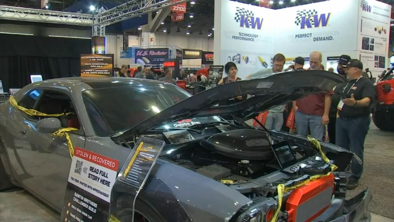 Stolen vehicle on display at car show