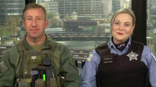 Chicago cop saves woman's life while running race in full SWAT gear then proposes to his girlfriend