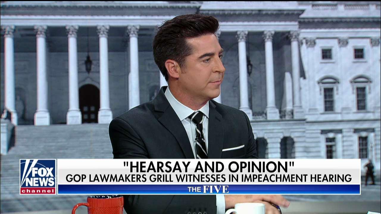 Jesse Watters calls Trump impeachment proceedings a 'hearsay hearing'