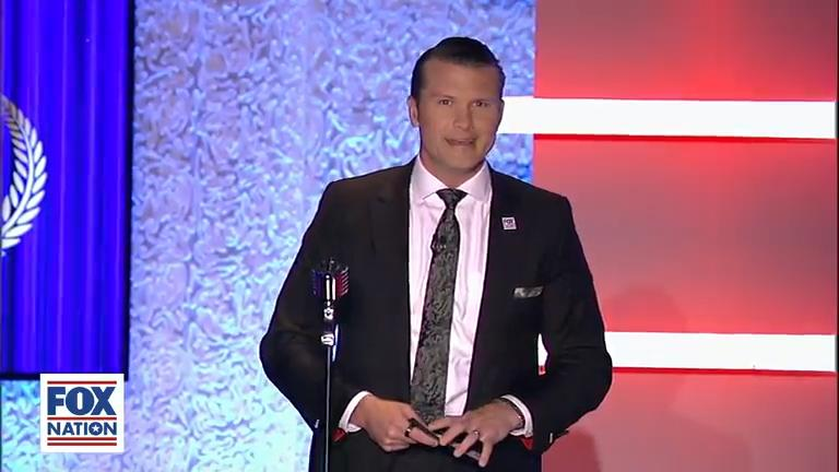 Pete Hegseth hosts Fox Nation's Patriot Awards, honoring those who have shown dedication to America.