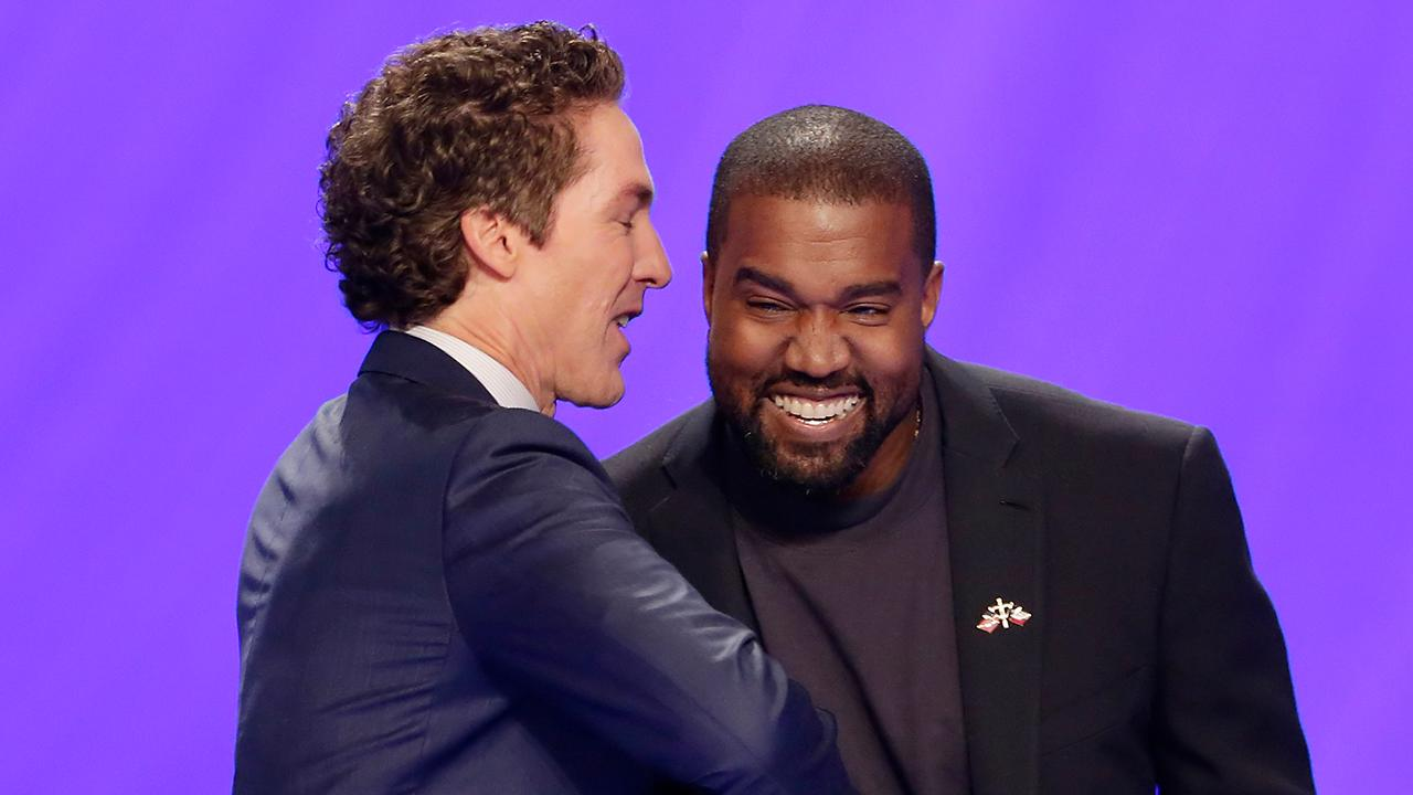 Kanye West gives Sunday service at Joel Osteen Church