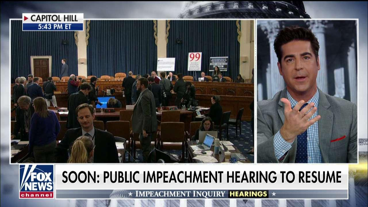 Jesse Watters blasts day two of impeachment inquiry