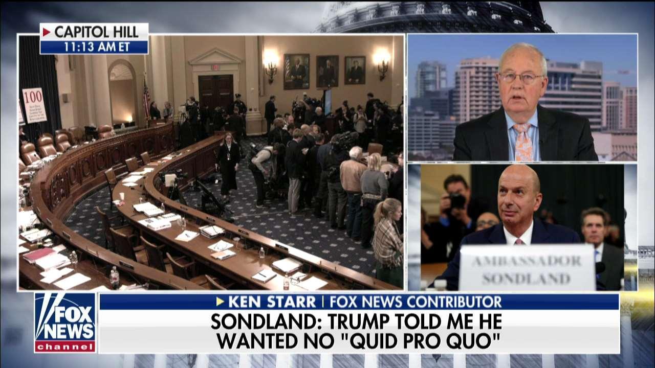 Ken Starr on Gordon Sondland's impeachment hearing testimony: 'One of those bombshell days'