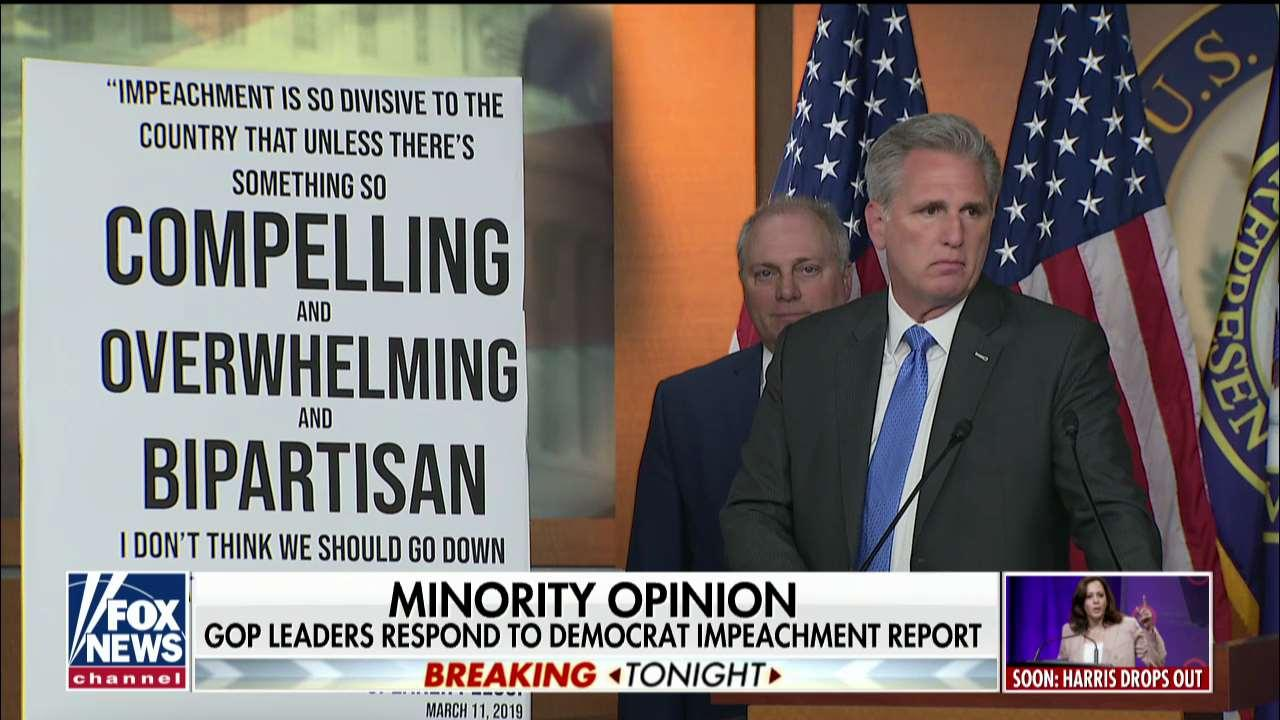 Kevin McCarthy: Nancy Pelosi was right about impeachment