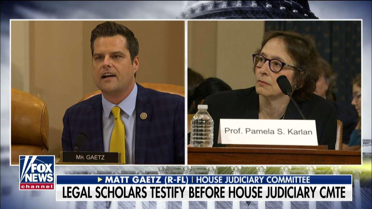 Matt Gaetz grills impeachment witnesses over Democratic donations, dig at Barron Trump