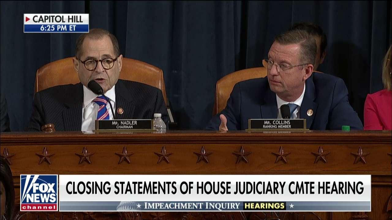 Doug Collins presses Jerry Nadler over demand for Republican day of witnesses