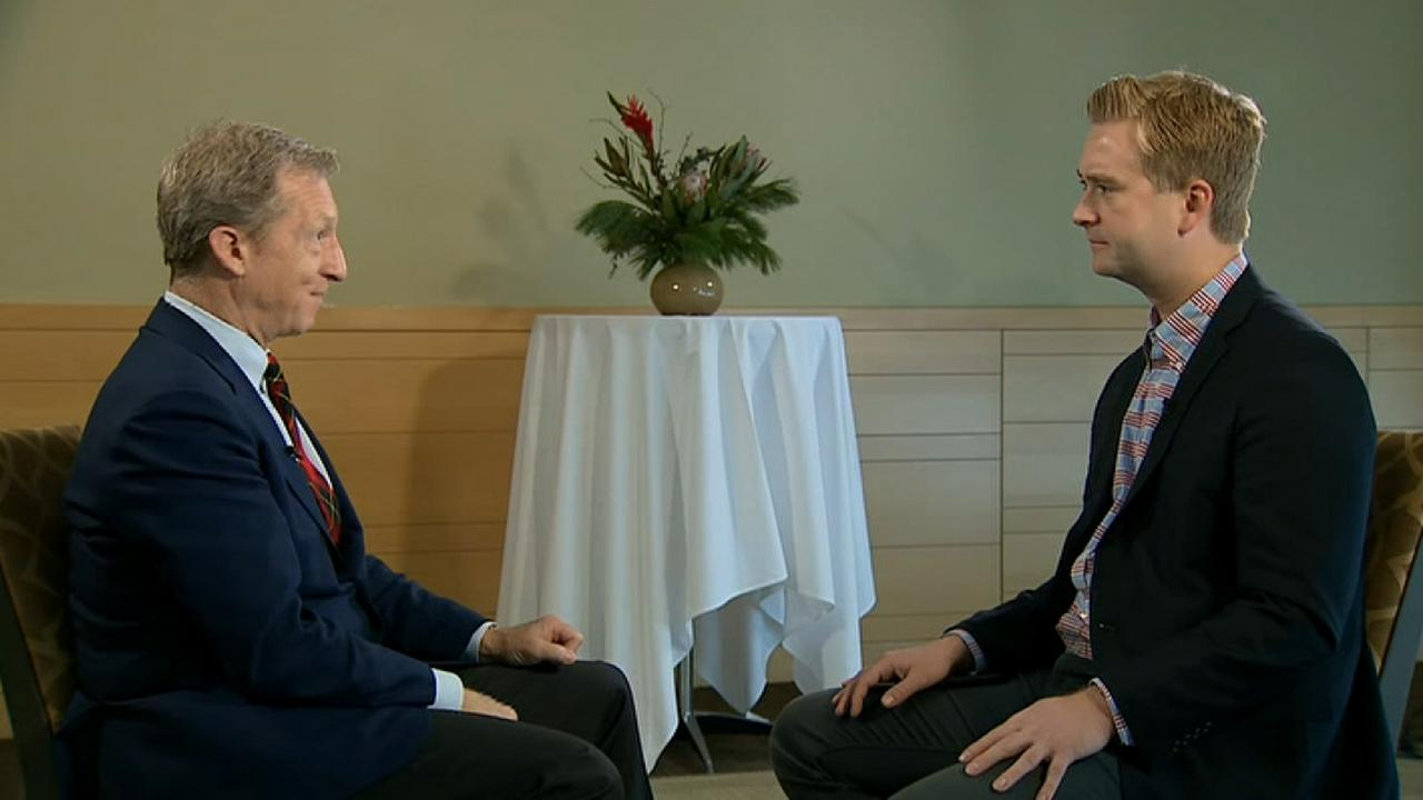 Raw video: News correspondent Peter Doocy sits down with Democratic presidential candidate Tom Steyer.