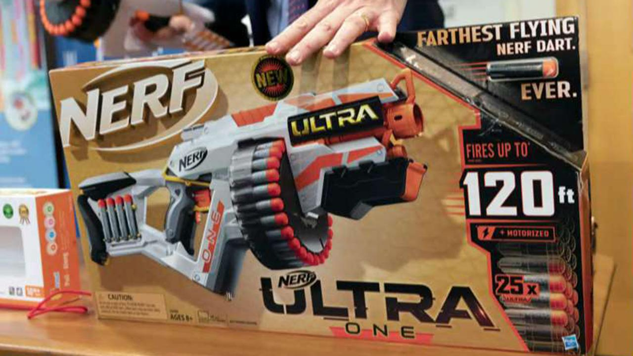 Consumer group urges Hasbro to remove 'assault-style' Nerf guns from its product line; reaction and analysis on 'The Five.'