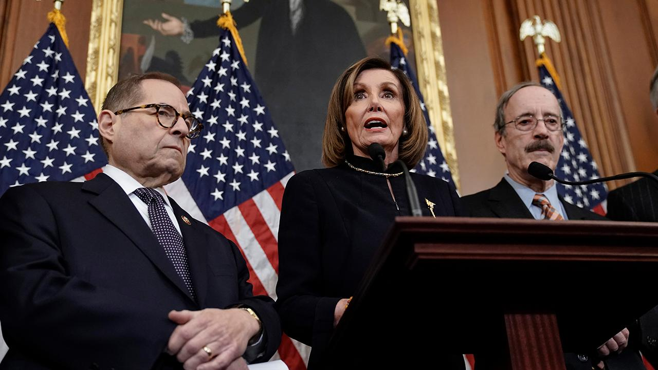 House Democrats address House voting to impeach President Trump