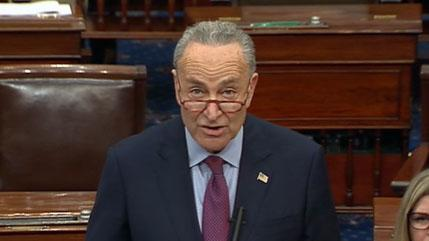 Schumer called on the testimony of witnesses in the impeachment trial, saying that the new'Apocalypse'a'game-changer'