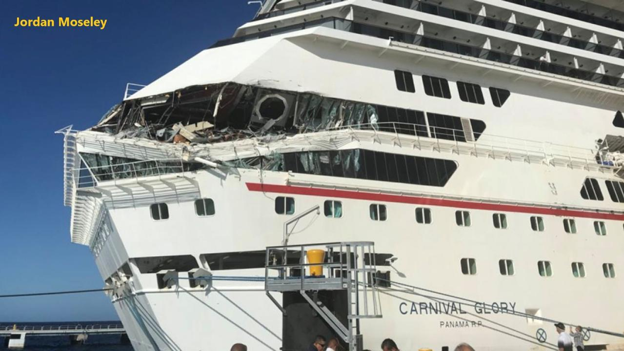 WATCH: Carnival cruise ships collide at port in Mexico