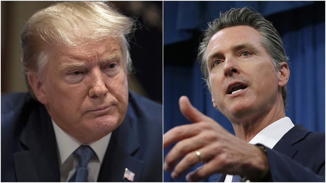 Gov. Gavin Newsom, President Trump spar over solutions to combat rising homelessness in California