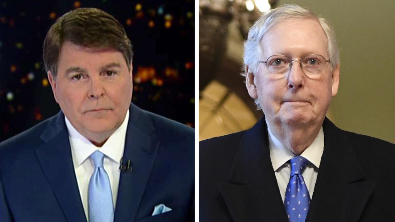 Gregg Jarrett sagt McConnell halten sollte Amtsenthebungsverfahren -- ohne Pelosi ist OK,